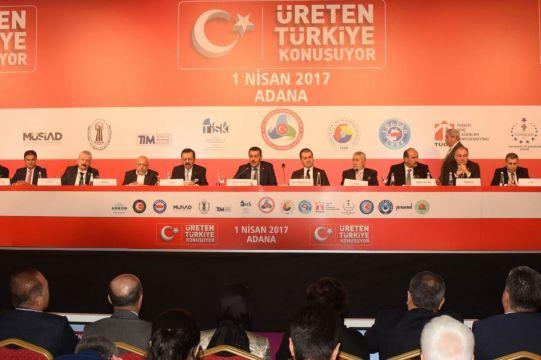 """Çelik ve Tüfenkçi """"Üreten Türkiye Konuşuyor"""" toplantısındaydı"""