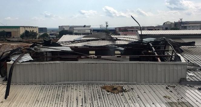 Fabrikanın boya kazanı patladı, yangın çıktı