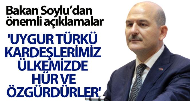 """""""Uygur Türkü kardeşlerimiz hür ve özgürdürler"""""""