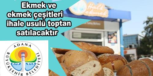 Ekmek ve ekmek çeşitleri ihale usulü toptan satılacaktır