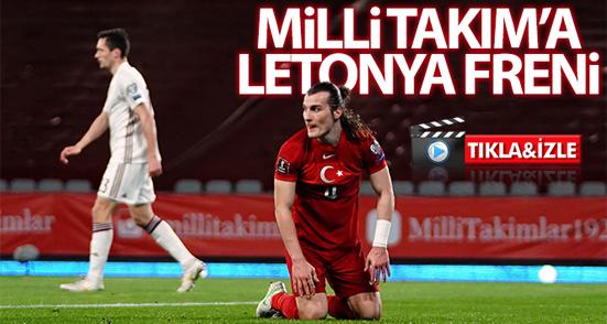 Milli Takım'a Letonya freni (MAÇ ÖZETİ)