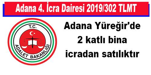 Adana Yüreğir'de 2 katlı bina icradan satılıktır