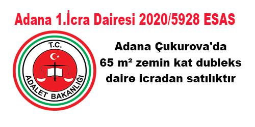 Adana Çukurova'da 65 m² zemin kat dubleks daire icradan satılıktır