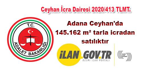 Adana Ceyhan'da 145.162 m² tarla icradan satılıktır