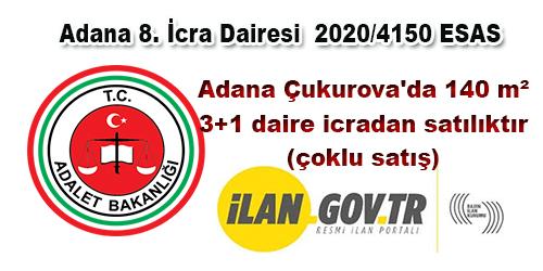 Adana Çukurova'da 140 m² 3+1 daire icradan satılıktır (çoklu satış)