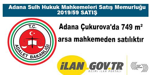 Adana Çukurova'da 749 m² arsa mahkemeden satılıktır