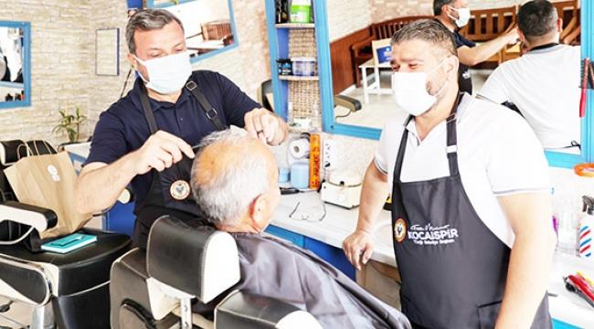 Yüreğir Belediye Başkanı Kocaispir'den Berber ve Kuaförlere destek