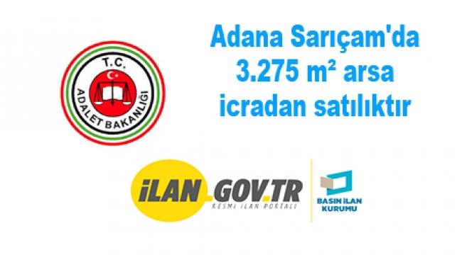 Adana Sarıçam'da 3.275 m² arsa icradan satılıktır