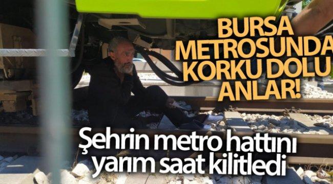Bursa metrosunda korku dolu anlar... Şehrin metro hattını yarım saat kilitledi