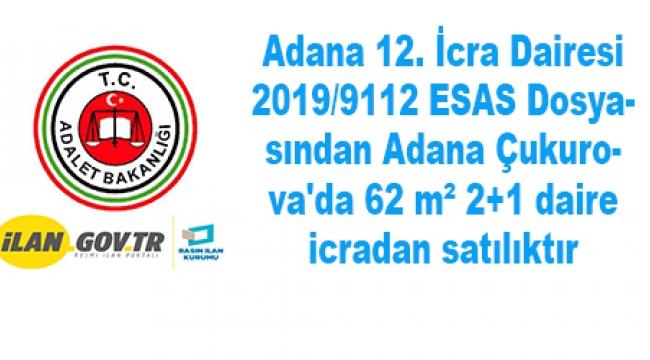 Adana Çukurova'da 62 m² 2+1 daire icradan satılıktır