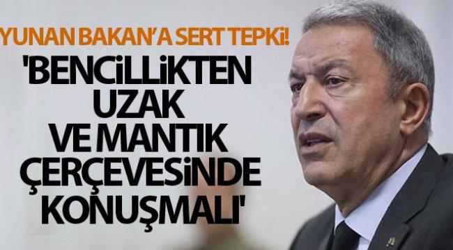 Bakan Akar'dan Yunanistan Savunma Bakanı'nın açıklamalarına tepki