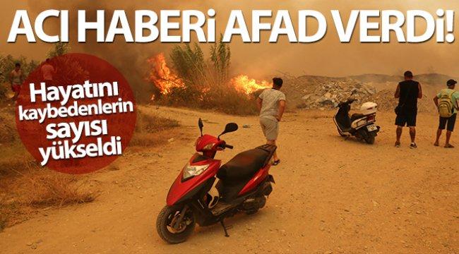 Manavgat'taki yangında hayatını kaybedenlerin sayısı 3'e yükseldi