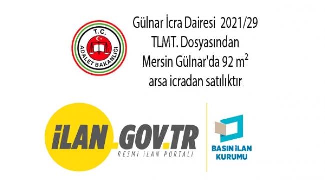 Mersin Gülnar'da 92 m² arsa icradan satılıktır