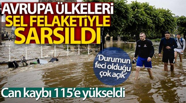 Sel felaketini yaşayan Avrupa'da can kaybı 115'e yükseldi