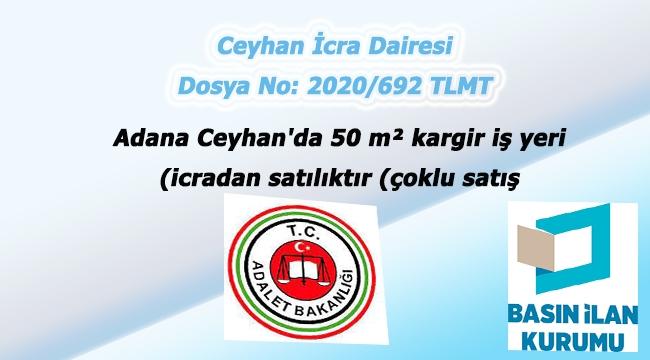 Adana Ceyhan'da 50 m² kargir iş yeri icradan satılıktır (çoklu satış)