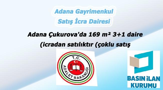 Adana Çukurova'da 169 m² 3+1 daire icradan satılıktır (çoklu satış)
