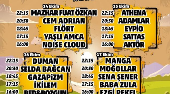 ÇUKUROVA ROCK FESTİVALİ'NDE 4 GÜNDE 20 SANATÇI SAHNE ALACAK