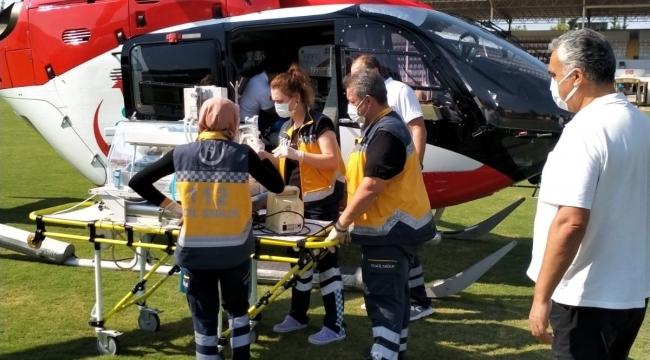 Hava ambulansı prematüre bebeği yaşatmak için havalandı
