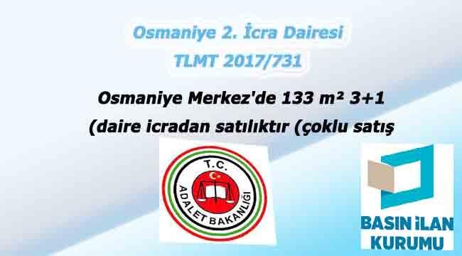 Osmaniye Merkez'de 133 m² 3+1 daire icradan satılıktır (çoklu satış)