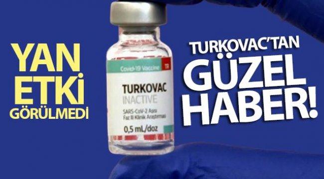 TURKOVAC'tan güzel haber; aşılanan 36 kişide yan etki görülmedi