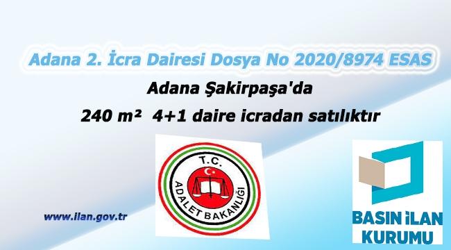 Adana Şakirpaşa'da 240 m² 4+1 daire icradan satılıktır